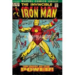 Marvel Comics - Poster - Iron Man - Retro Comic nr. 47 BIRTH OF POWER