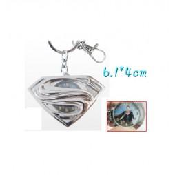 Dc Comics - Keyring - 2D Metal + Clock - Superman Logo