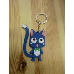 Fairy Tail - Keyring - 2D Gomma - Happy Blue