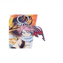Fairy Tail - Keyring - 2D Metallic - Red Logo