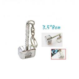 Marvel Comics - Keyring - 3D Metal Silver Plated - Thor Hammer Mjolnir