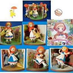 Pop Wonderland - Little Red Riding Hood Figure gashapon x5 SET - Figure #2 Loose