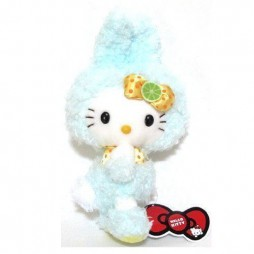Hello Kitty Plush - Hello Kitty Rabbit AZZURRA - Eikoh - Peluche 24 cm