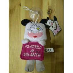 Hello Spank Plush - Spank Peluche Miniinsegna 15 cm - PERICOLO AL VOLANTE