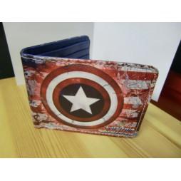Marvel Comics - Capitan America - Captain America - Portafoglio Scudo Battle Damage