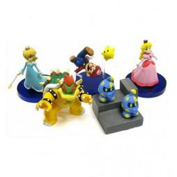 Super Mario Galaxy - Gashabox Gashapon SET - Complete 5 Figure - SET