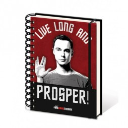 The Big Bang Theory - LIVE LONG AND PROSPER - A5 Notebook