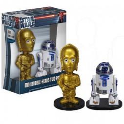 Star Wars - C-3PO e R2-D2 - Mini Bobble Head