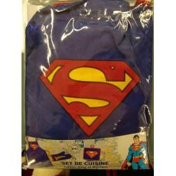 Dc Comics - Superman - Set Cucina Grembiule Barbecue, Presina, Guanto Forno - Apron and oven accessories