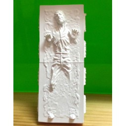 Star Wars - Takara Tomy A.R.T.S. YUJIN - Polystone Mini Bust Statue Figure - SR Gashapon SET - Han Solo in Carbonite Se