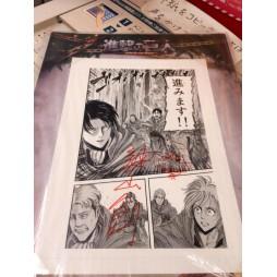 Attack on Titan - L\'Attacco dei Giganti - Ichiban Kuji Shingeki no Kyojin - Kuji Dakkan Sakusen - LOT D Signed Original