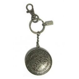 Game Of Thrones - Il Trono di Spade - Keyring 3D - Metal - Portachiavi - Stark Shield - Keyring