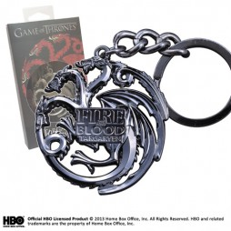 Game Of Thrones - Il Trono di Spade - Keyring 3D - Metal - Portachiavi - Targaryen Sigil - Keyring