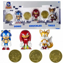 Sonic - Sonic Boom Classic 3 Pack Action Figure - Sonic + Knuckles + Tails