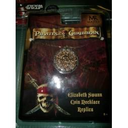 Pirates Of The Caribbean - Pirati Dei Caraibi - Elizabeth Swann Coin Necklace Replica - Replica Doblone Ciondolo Con Cat