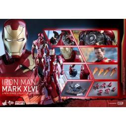 Captain America Civil War Movie Masterpiece Action Figure 1/6 Iron Man Mark XLVI Die Cast Hot Toys