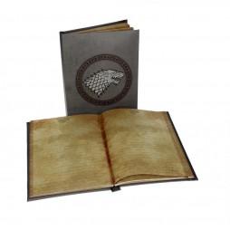 Game Of Thrones - Il Trono Di Spade - Light Up Notebook - Stark Crest Si Illumina