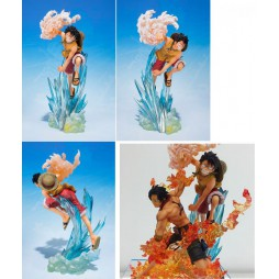 One Piece - Figuarts Zero - Brother\'s Bond - Extra Battle - Monkey D. Luffy - Fugure Diorama Componibile