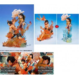One Piece - Figuarts Zero - Brother\'s Bond - Extra Battle - Portgas D. Ace + Monkey D. Luffy - Fugure Diorama Componibil