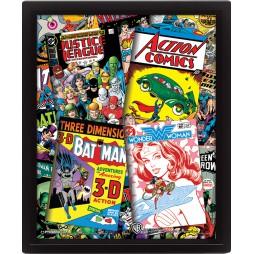 Poster 3D Lenticolare - Dc Comics - Poster - Classic Comic Covers