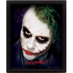 Poster 3D Lenticolare - Dc Comics - Batman Dark Knight - Poster - Heath Ledger Joker Face