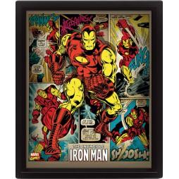 Poster 3D Lenticolare - Marvel Comics - Iron Man - Poster - Iron Man And Comics
