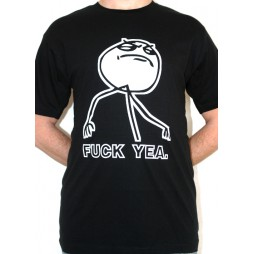 Facebook Memes - Fuck Yeah Black - T-shirt MEDIUM
