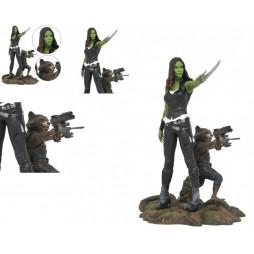 Marvel Comics - Guardians Of The Galaxy 2 - Marvel Gallery Figure - PVC Statue - Gamora & Rocket Raccoon