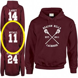 Teen Wolf - Beacon Hills Lacrosse HOODIE - Wolf 11 Teen McCall Taglia Extra Extra Large