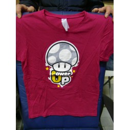 Nintendo - Super Mario - Power Up Rosso Porpora - T-shirt Donna LARGE