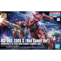 HG Gundam The Origin 024 - MS-06S Zaku II Principality Of Zeon (Red Comet Ver.) MASS-PRODUCED MOBILE SUIT 1/144