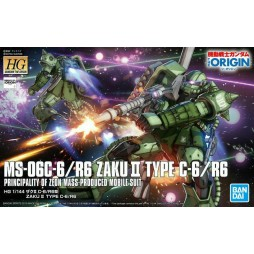 HG Gundam The Origin 025 - MS-06-C/Type C-6/R6 Zaku II Principality Of Zeon MASS-PRODUCED MOBILE SUIT 1/144