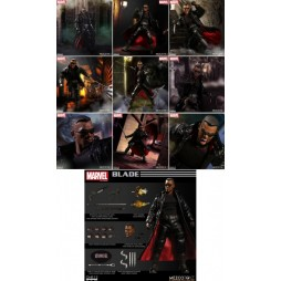 Mezco Toys - One Twelve Collective - Marvel Comics - Blade - Black Panther - Action Figure - Cloth Version Scala 1:12