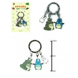 Il mio Vicino Totoro - My Neighbour Totoro - Keyring 2D - Metal - Portachiavi 2D Metallo - 3 Charms Totoro Keyring