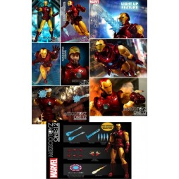 Mezco Toys - One Twelve Collective - Marvel Comics - The Invincible Iron Man - Comics Version - Action Figure - Cloth Ve