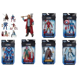 Marvel Comics - Marvel Legends Build a Figure Series - Avengers 2019 (Endgame) Wave 3 Mojo series - SET + Thor Bro