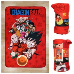 Dragon Ball - Polar Blanket - Coperta in Pile - Character Cast - Cast completo di Dragon Ball - SD Toys