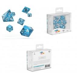 Oakie Doakie Dice - Set 7 Dadi RPG - Speckled - Light Blue