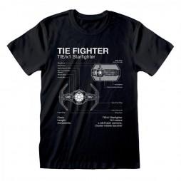 Star Wars - Tie Fighter Sketch - T-shirt MEDIUM