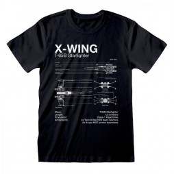 Star Wars - X-Wing Sketch - T-shirt MEDIUM