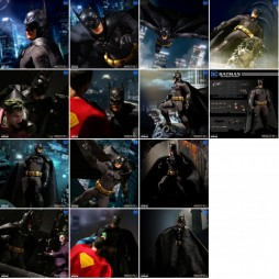 Mezco Toys - One Twelve Collective - DC Comics - Batman: Sovereign Knight - Batman - Action Figure - Cloth Version Scala