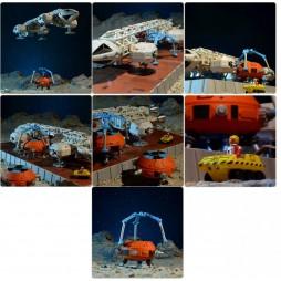 SPACE 1999 - SPAZIO 1999 - EAGLE Transporter DIE CAST DELUXE Ep. Collision Course - Modello Assemblato Limited Episo