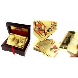 Carte Da Gioco - Carte Poker/Carte Per Giochi Di Prestigio - Mazzo $ 100 Benjamin Franklin - placcatura in oro 24K - Del