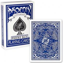 Carte Da Gioco - Carte Poker/Carte Per Giochi Di Prestigio - Phoenix Back - Mazzo Standard Singolo Blue - Air Cushion Fi