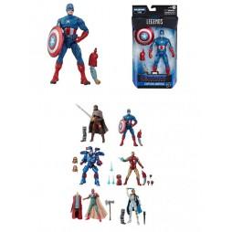 Marvel Comics - Marvel Legends Build a Figure Series - Avengers 2019 (Endgame) Wave 3 Mojo series - E7678 - Captain Amer