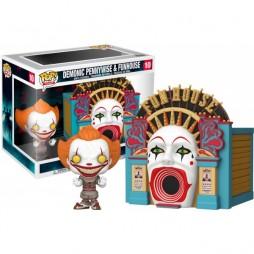 POP! Town 10 Stephen King\'s IT 2 - Demonic Pennywise and FunhouseMeltdown Vinyl Figure