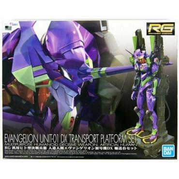 RG Real Grade Evangelion - Neon Genesis Evangelion - Evangelion Unit 01 DX Transport Platform Set - 1/144 Plastic Kit