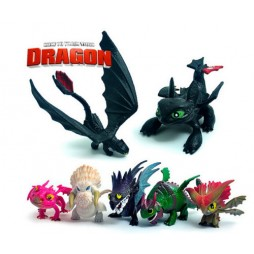 How To Train Your Dragon - Dragon Trainer - Dreamworks Defenders of Berk Mini Dragons - Complete Set