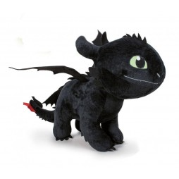 How to Train Your Dragon 3 - - Dragon Trainer 3 - The Hidden World Plush Figure Toothless (Night Fury) - Peluche 60 cm