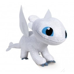 How to Train Your Dragon 3 - Dragon Trainer 3 The Hidden World Plush Figure Light Fury - Peluche 60 cm